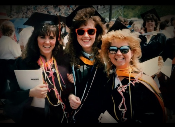 Ann Marie Lisa and me college grad